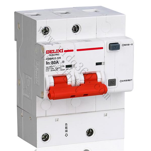 CDBHLE-125大电流漏电保护断路器